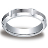 5mm High Polished Groove & Beveled Satin Edge Cobaltchrome Ring