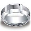 Men's 10mm High Polished Groove & Beveled Edge Satin Cobaltchrome Ring