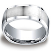 Four-Sided 9mm Satin Comfort-Fit Cobaltchrome Men's Wedding Band