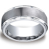 9mm Raised Satin Center Comfort-Fit Men's Cobaltchrome Wedding Band