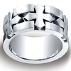 Men's 10mm Celtic Cross Satin Comfort-Fit Cobaltchrome Ring