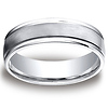 6mm Satin Center Round Edge Cobaltchrome Wedding Band