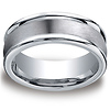 Men's 8mm Satin Center Round Edge Comfort-Fit Cobaltchrome Ring
