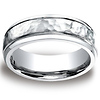 7mm Hammered-Finished Design Comfort-Fit Cobaltchrome Ring