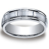 Benchmark 7mm Satin Center Round Edge Cobaltchrome Wedding Band