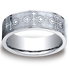 Elegant Cross 7mm Comfort-Fit Benchmark CobaltChrome Ring