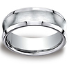 7.5mm Satin Concave Comfort-Fit Cobaltchrome Wedding Band for Men