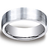 7.5mm Satin Flat Design Comfort-Fit Cobaltchrome Ring for Men