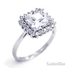 Sterling Silver Ladies Promise CZ Engagement Ring