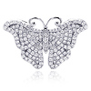 Micro Pave CZ Sterling Silver Butterfly Pendant