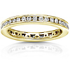 14K Yellow Gold 0.55 CTW Round Diamond Channel Set Eternity Band