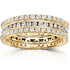14K Yellow Gold 1.50 CTW Diamond 3 Piece Prong & Channel Set Ring