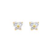 Butterfly 14K Yellow Gold CZ Month Birthstone Stud Earrings