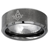 8mm Tungsten Carbide Masonic Comfort Fit Wedding Band