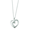 White Ice Sterling Silver 'Soulmate' CZ Heart Charm Necklace