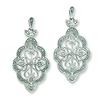 Sterling Silver Diamond Chandalier Dangle Post Earrings