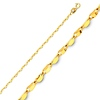 1.7mm 14K Yellow Gold Twisted Mirror Chain Necklace