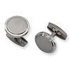 Round Titanium Brushed & Polished Cuff Links