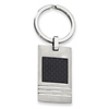 Stainless Steel Black Carbon Fiber Key Ring