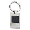 Stainless Steel Black Carbon Fiber Key Ring