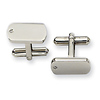 Stainless Steel 0.03 TCW Diamond Polished Cuff Links