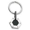 Stainless Steel Black Carbon Fiber Hexagon Key Ring