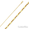 1mm 14K Yellow Gold Anchor Link Mariner Chain Necklace