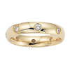 14K Yellow Gold Bezel set Diamond Semi Eternity Band 0.21 ct (size 8)