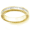 14K Yellow Gold Signature Edge Diamond Eternity Band 0.72 ct (Size 5.5)