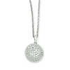 Elliot Skye Sterling Silver Micro Pave Cubic Zirconia Ball Charm Necklace