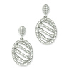 Elliot Skye .925 Sterling Silver CZ Oval Wave Design Earrings