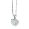 Elliot Skye Micro Pave CZ Heart Sterling Silver Charm Necklace