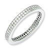 Elliot Skye 2 Row Cubic Zirconia Eternity .925 Sterling Silver Ring