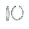 Elliot Skye Sterling Silver 28mm CZ Micro Pave Set Oval Hoop Earrings