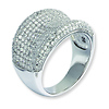 Elliot Skye Sterling Silver Micro Pave Cubic Zirconia Cocktail Ring