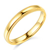 3mm Traditional Milgrain Yellow Gold Wedding Band (available in 10K, 14K & 18K)
