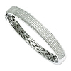 Elliot Skye Sterling Silver Micro Pave CZ 8.50mm Bangle Bracelet