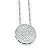 Elliot Skye Flat Circle Micro Pave CZ Sterling Silver Charm Necklace