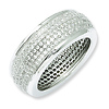 Elliot Skye Sterling Silver 5 Row Micro Pave Cubic Zirconia Eternity Ring