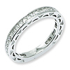 Elliot Skye .925 Sterling Silver Cubic Zirconia Eternity Ring