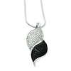 Elliot Skye Sterling Silver Black & White Micro Pave CZ Fancy Charm Necklace