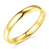 3mm Lite COMFORT FIT Plain 14K Yellow Gold Wedding Band