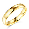 4mm Lite COMFORT FIT Plain 14K Yellow Gold Wedding Band