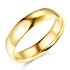 5mm Lite COMFORT FIT Plain 14K Yellow Gold Wedding Ring