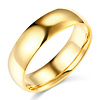 6mm LITE COMFORT FIT Plain 14K Yellow Gold Wedding Band Ring