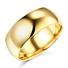 8mm Lite Comfort Fit Plain 14K Yellow Gold Wedding Band