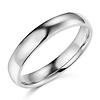 4mm Lite COMFORT FIT Plain 14K White Gold Wedding Band Ring
