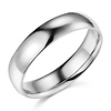 5mm Lite COMFORT FIT Plain 14K White Gold Wedding Band