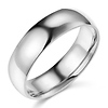 6mm Lite COMFORT FIT Plain 14K White Gold Wedding Band