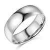 7mm Lite COMFORT FIT Plain 14K White Gold Wedding Band Ring